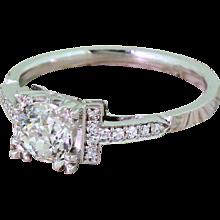 Art Deco 0.70 Carat Old Cut Diamond Engagement Ring, circa 1930