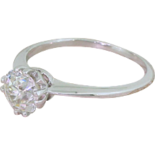 Art Deco 1.21 Carat Old Cut Diamond Engagement Ring, circa 1920