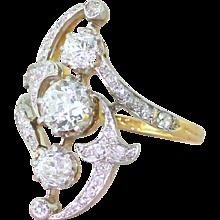 Art Nouveau 1.61 Carat Old Cut Diamond Ring, circa 1905