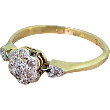 Edwardian Eight-Cut Diamond Daisy Cluster Ring, circa 1905