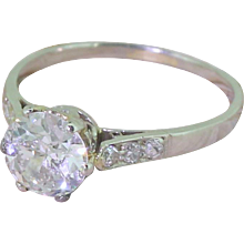 Art Deco 1.02 Carat Old Cut Diamond Engagement Ring, circa 1925