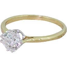 Art Deco 0.70 Carat Old European Cut Diamond Engagement Ring, circa 1925