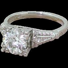 Art Deco 1.14 Carat Old Cut Diamond Engagement Ring, circa 1925