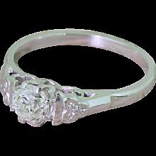Art Deco 0.51 Carat Old Cut Diamond Engagement Ring, circa 1930