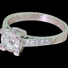 Art Deco 0.57 Carat Old Cut Diamond Engagement Ring, circa 1935