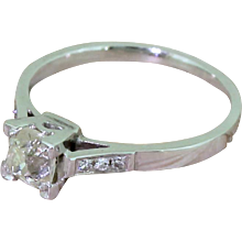 Art Deco 0.51 Carat Old Cut Diamond Engagement Ring, circa 1925