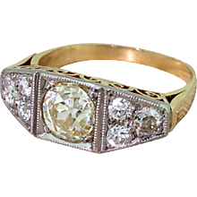 Art Deco 1.62 Carat Old Cut Diamond Ring, circa 1940