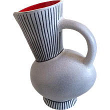 A set of a JUG and  6 CUPS  by  André Baud, Vallauris