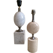Two MAISON BARBIER Marble  Table lamps.