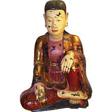 A large turn of 18th  century , statue of a seated buddha