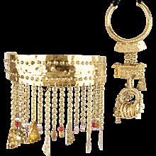 Christian Lacroix  parure Belt and Necklace