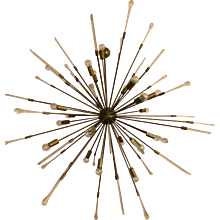 A murano massive Italian sputnik style chandelier,with alambicchi spikes,140 cm diameter