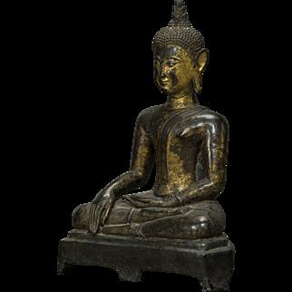 1600 Century gilt bronze Buddha, Provenance Knuthenborg