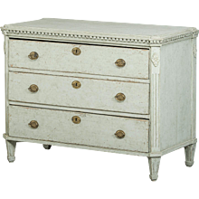 Gustavian chest of drawers, Sweden circa 1820