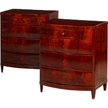 Pair of Empire chest of drawers, Denmark 1810