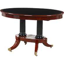 Elegant center table, Denmark 1820-1830.