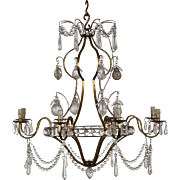 Chandelier with rock crystals