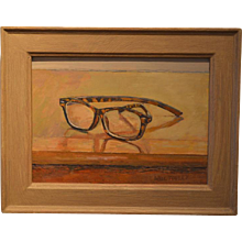 'Glasses' William Topley, oil on canvas
