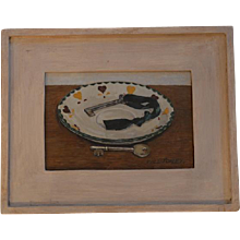 'Keys' by William Topley, oil on canvas, signed by artist