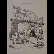'English Farmyard Scenes' 20th Century