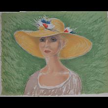 'Lady in a straw Hat'