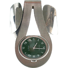 Sterling and Enamel Watch by Gubelin, circa 1970