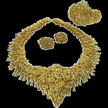 Impressive Diamond Gold Parure circa 1965
