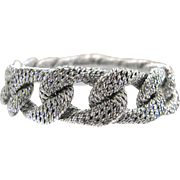 George L'Enfant (attributed to) White Gold Curb Link Bracelet
