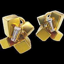 Alfred Karram Modernist Earrings, 1970s