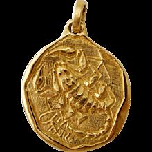 Scorpio Zodiac Pendant Italian Circa 1970