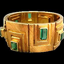 Burle Marx Tourmaline 18k Gold Bracelet