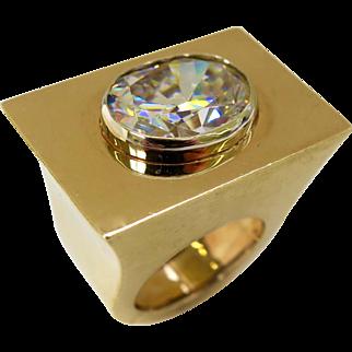 Massive Gold Travel Ring, circa 1960 $2,650