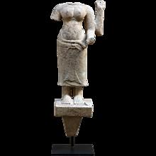 Sandstone Figure of a Goddess