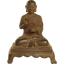 Iron Cast Figure of a Luohan