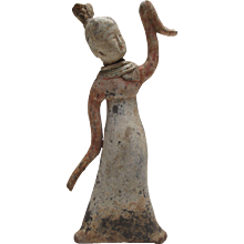 Terracotta Tang Dynasty Dancing Court Lady