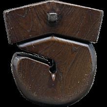 Japanese Wooden Kettle Hook
