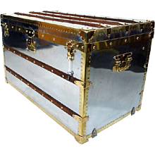 1890s Zinc Louis Vuitton Trunk