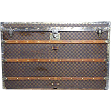 1890s Louis Vuitton Damier Courrier Trunk or Malle Courrier Damier