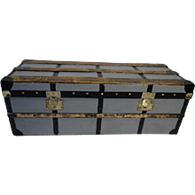 1880's Moynat Steamer Trunk / Malle courrier Moynat