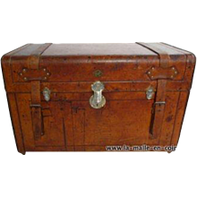 1905 Leather Russian trunk
