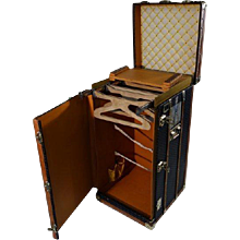 1920's Goyard Wardrobe Trunk / Malle Penderie Goyard