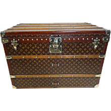 1920's Louis Vuitton courrier monogram Trunk /  Malle courrier monogram