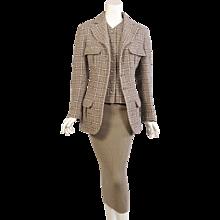 Chanel Boucle Jacket & Matching Cashmere Dress