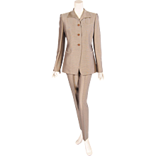 Hermes Silk Twill Jacket & Pants Suit