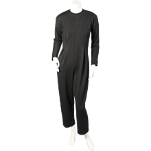 Geoffrey Beene Black Wool Jumpsuit