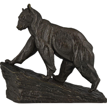 Art Deco bronze bear by Francis Corbeels, Belgium 1930