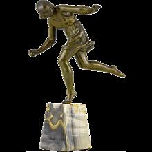 French Art Deco bronze sculpture Atalanta by Pierre Le Faguays, 1930