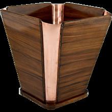 Emile Jacques Ruhlmann, Art Deco Waist Paper Basket, 1930