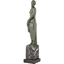 French Art Deco sculpture of a standing nude by Fayral, Pierre Le Faguays, 1930