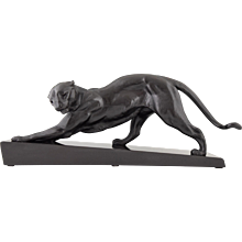 French Art Deco panther sculpture by Plagnet, 1930
